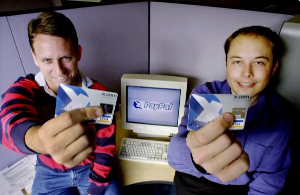Питер Тиль и Илон Маск в 2000-м