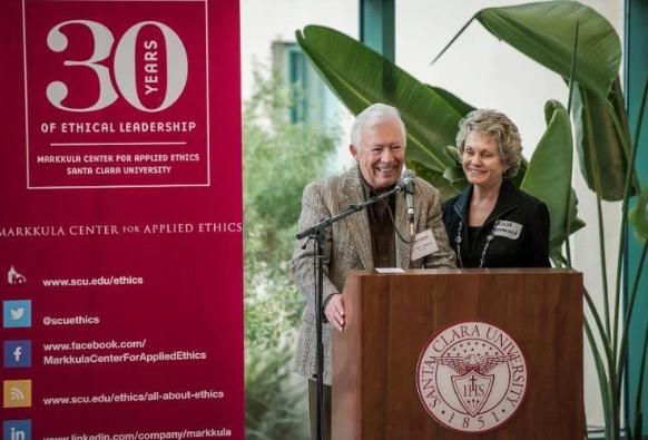 Майк и его жена Линда в Университете Санта-Клары