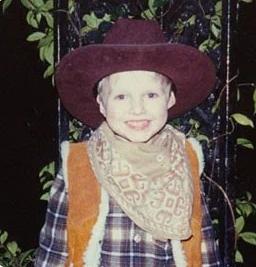 Мэтт в детстве – настоящий ковбой